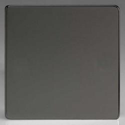 Varilight Screwless Iridium Black 1 Gang Blank Plate