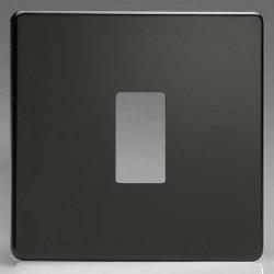 Varilight PowerGrid Screwless Premium Black 1 Gang Faceplate
