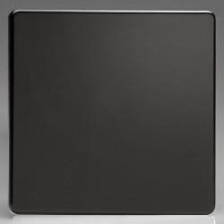 Varilight Screwless Premium Black 1 Gang Blank Plate