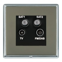 Hamilton Linea-Rondo CFX Bright Chrome/Black Nickel TV+FM+SAT+SAT (DAB Compatible) with Black Insert