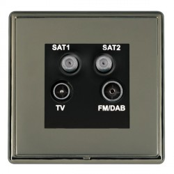 Hamilton Linea-Rondo CFX Black Nickel/Black Nickel TV+FM+SAT+SAT (DAB Compatible) with Black Insert