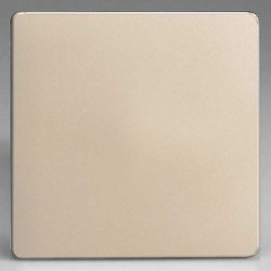 Varilight Screwless Satin Chrome 1 Gang Blank Plate