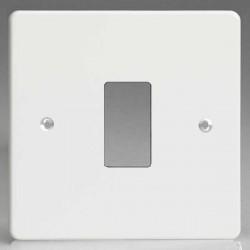 Varilight PowerGrid Premium White 1 Gang Faceplate