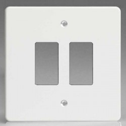 Varilight PowerGrid Premium White 2 Gang Faceplate