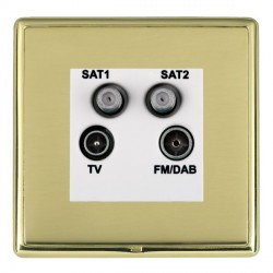 Hamilton Linea-Rondo CFX Polished Brass/Polished Brass TV+FM+SAT+SAT (DAB Compatible) with White Insert