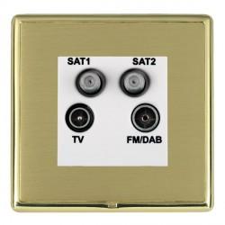 Hamilton Linea-Rondo CFX Polished Brass/Satin Brass TV+FM+SAT+SAT (DAB Compatible) with White Insert