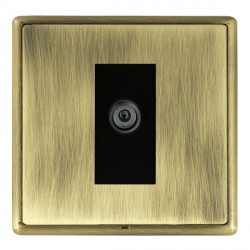 Hamilton Linea-Rondo CFX Antique Brass/Antique Brass 1 Gang Digital Satellite with Black Insert