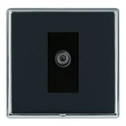 Hamilton Linea-Rondo CFX Bright Chrome/Piano Black 1 Gang Digital Satellite with Black Insert