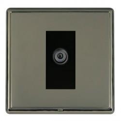 Hamilton Linea-Rondo CFX Black Nickel/Black Nickel 1 Gang Digital Satellite with Black Insert