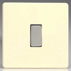 Varilight Screwless White Chocolate 1 Gang 10A 2 Way Switch