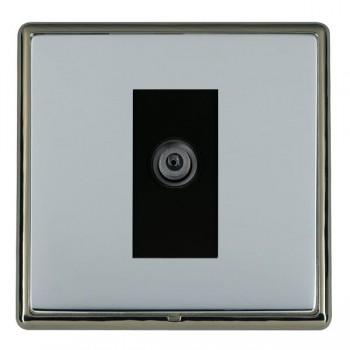Hamilton Linea-Rondo CFX Black Nickel/Bright Steel 1 Gang Digital Satellite with Black Insert
