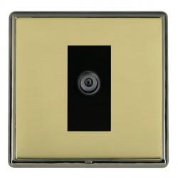 Hamilton Linea-Rondo CFX Black Nickel/Polished Brass 1 Gang Digital Satellite with Black Insert