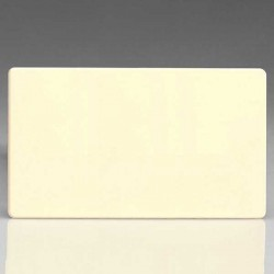 Varilight Screwless White Chocolate 2 Gang Blank Plate
