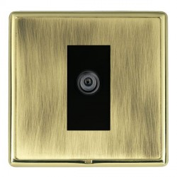 Hamilton Linea-Rondo CFX Polished Brass/Antique Brass 1 Gang Digital Satellite with Black Insert