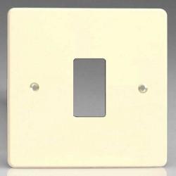 Varilight PowerGrid White Chocolate 1 Gang Faceplate