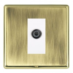 Hamilton Linea-Rondo CFX Polished Brass/Antique Brass 1 Gang Digital Satellite with White Insert