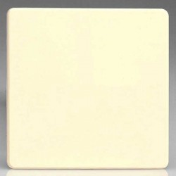 Varilight Screwless White Chocolate 1 Gang Blank Plate