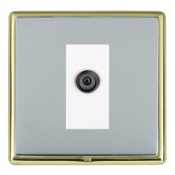 Hamilton Linea-Rondo CFX Polished Brass/Bright Steel 1 Gang Digital Satellite with White Insert