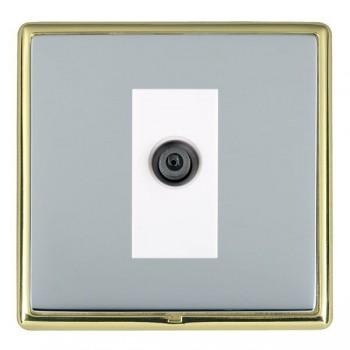 Hamilton Linea-Rondo CFX Polished Brass/Bright Steel 1 Gang Digital Satellite with White Insert