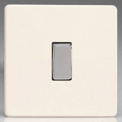 Varilight Screwless Primed 1 Gang 10A 2 Way Switch