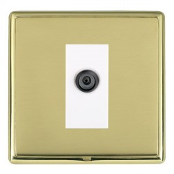Hamilton Linea-Rondo CFX Polished Brass/Polished Brass 1 Gang Digital Satellite with White Insert