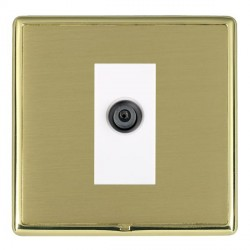 Hamilton Linea-Rondo CFX Polished Brass/Satin Brass 1 Gang Digital Satellite with White Insert