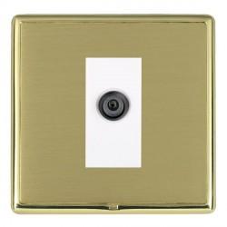 Hamilton Linea-Rondo CFX Polished Brass/Satin Brass 1 Gang Digital Satellite with White Insert