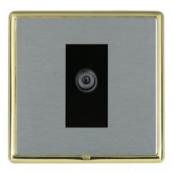 Hamilton Linea-Rondo CFX Polished Brass/Satin Steel 1 Gang Digital Satellite with Black Insert