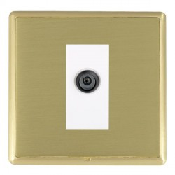 Hamilton Linea-Rondo CFX Satin Brass/Satin Brass 1 Gang Digital Satellite with White Insert