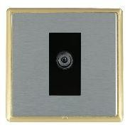 Hamilton Linea-Rondo CFX Satin Brass/Satin Steel 1 Gang Digital Satellite with Black Insert