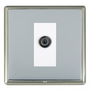Hamilton Linea-Rondo CFX Satin Nickel/Bright Steel 1 Gang Digital Satellite with White Insert
