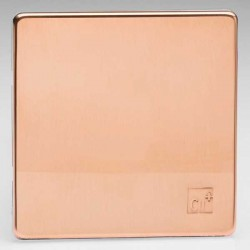 Varilight Screwless Antimicrobial Copper 1 Gang Blank Plate