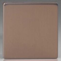 Varilight Screwless Brushed Bronze 1 Gang Blank Plate