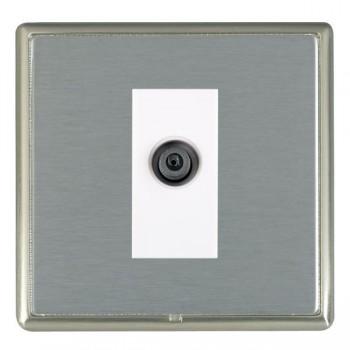 Hamilton Linea-Rondo CFX Satin Nickel/Satin Steel 1 Gang Digital Satellite with White Insert