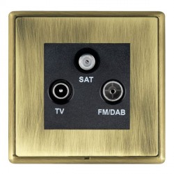 Hamilton Linea-Rondo CFX Antique Brass/Antique Brass TV+FM+SAT (DAB Compatible) with Black Insert