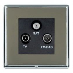 Hamilton Linea-Rondo CFX Bright Chrome/Black Nickel TV+FM+SAT (DAB Compatible) with Black Insert