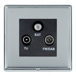 Hamilton Linea-Rondo CFX Bright Chrome/Bright Steel TV+FM+SAT (DAB Compatible) with Black Insert