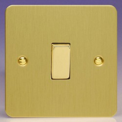 Varilight Ultraflat Brushed Brass 1 Gang 10A 2 Way Switch
