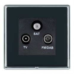 Hamilton Linea-Rondo CFX Bright Chrome/Piano Black TV+FM+SAT (DAB Compatible) with Black Insert