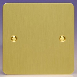 Varilight Ultraflat Brushed Brass 1 Gang Blank Plate