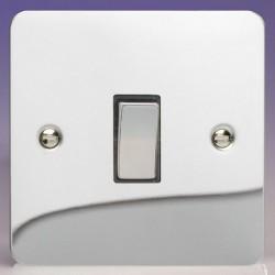 Varilight Ultraflat Polished Chrome 1 Gang 20A DP Switch