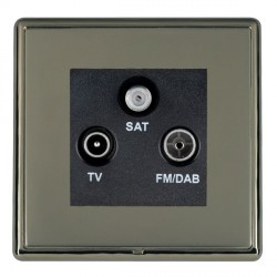 Hamilton Linea-Rondo CFX Black Nickel/Black Nickel TV+FM+SAT (DAB Compatible) with Black Insert