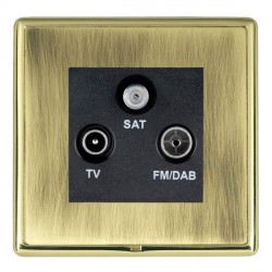 Hamilton Linea-Rondo CFX Polished Brass/Antique Brass TV+FM+SAT (DAB Compatible) with Black Insert