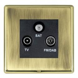 Hamilton Linea-Rondo CFX Polished Brass/Antique Brass TV+FM+SAT (DAB Compatible) with Black Insert
