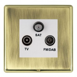 Hamilton Linea-Rondo CFX Polished Brass/Antique Brass TV+FM+SAT (DAB Compatible) with White Insert