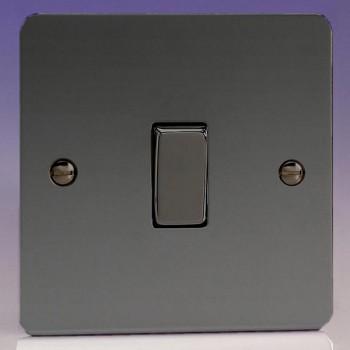 Varilight Ultraflat Iridium Black 1 Gang 10A 2 Way Switch