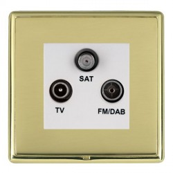 Hamilton Linea-Rondo CFX Polished Brass/Polished Brass TV+FM+SAT (DAB Compatible) with White Insert
