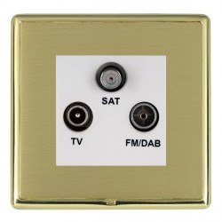 Hamilton Linea-Rondo CFX Polished Brass/Satin Brass TV+FM+SAT (DAB Compatible) with White Insert
