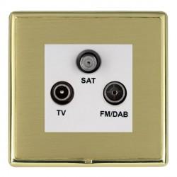 Hamilton Linea-Rondo CFX Polished Brass/Satin Brass TV+FM+SAT (DAB Compatible) with White Insert