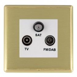 Hamilton Linea-Rondo CFX Satin Brass/Satin Brass TV+FM+SAT (DAB Compatible) with White Insert